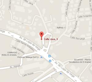 Mapa de ubicación del colegio El Atabal