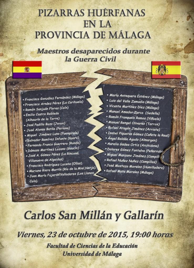 Cartel del Proyecto Pizarras huerfanas